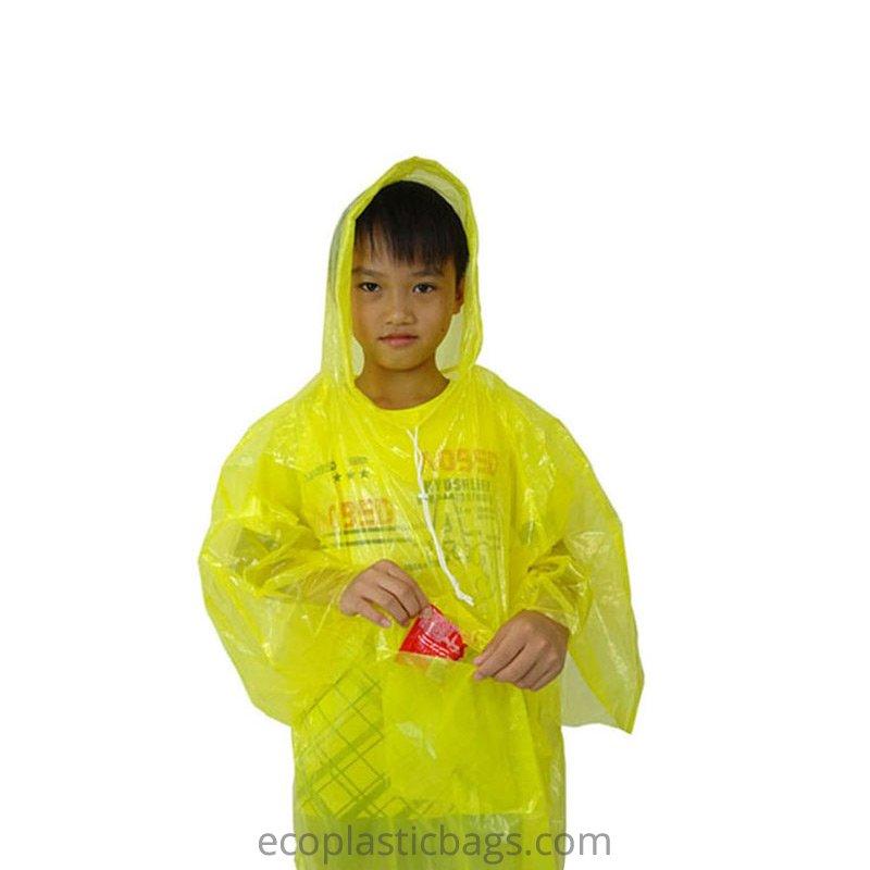 Bioplastic Children's Rain Poncho Manufacturer