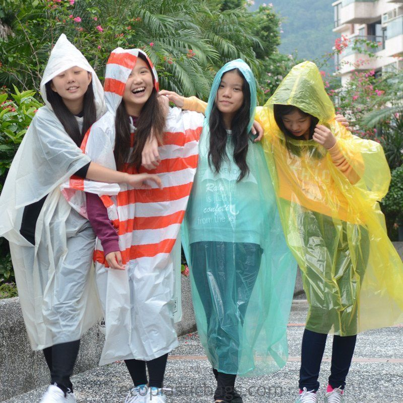 Biodegradable Rain Poncho