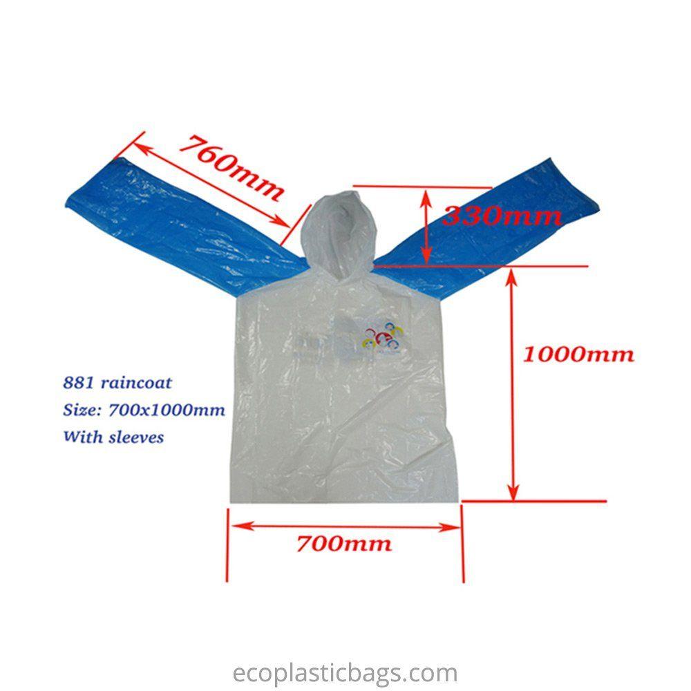 LDPE rain ponchos